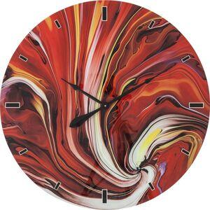 Nástěnné hodiny Glass Chaos Fire O 80 cm