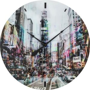 Nástěnné hodiny Glass Times Square O 80 cm