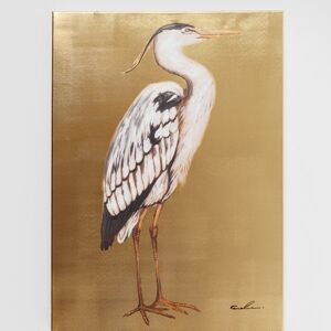 Obraz s ručními tahy Heron Right 70×50 cm