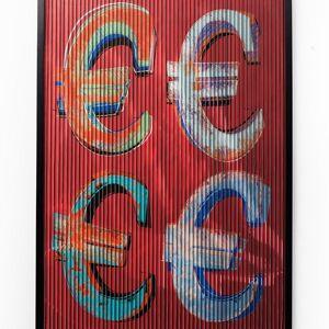 Obraz s rámem Art 3D Euro 118×83 cm