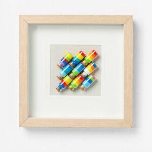 Obraz s rámem Rainbow Jars Square