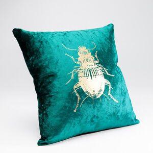 Polštářek Bug - zelený, 45×45 cm