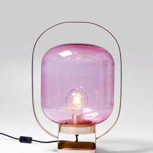 Stolní lampa Jupiter - růžová a měděná