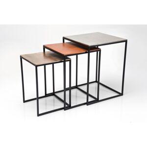 Odkládací stolek Loft Square Vintage (3/Set)