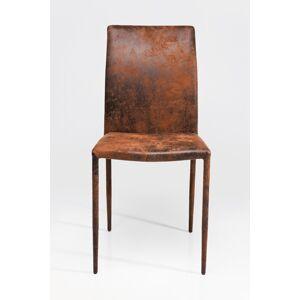 Hnědá čalouněná jídelní židle Milano Vintage