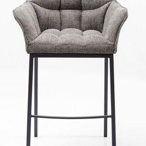 Šedá čalouněná barová židle Thinktank Quattro