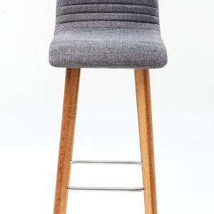 Modrá čalouněná barová židle Lara Ecru