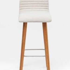 Bílá čalouněná barová židle Lara Ecru