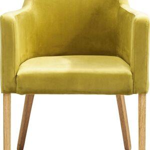 Zelená čalouněná židle s područkami Mode Velvet