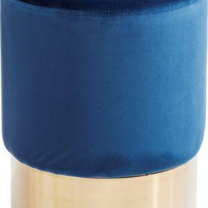 Modrá stolička Cherry - sokl mosaz