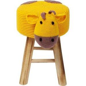 Žlutá stolička Funny Žirafa