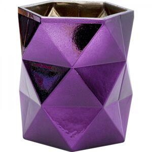 Stojan na čajovou svíčku Rhomb Purple 11cm