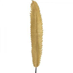 Dekorace na zeď Leaf - zlatá, 196cm