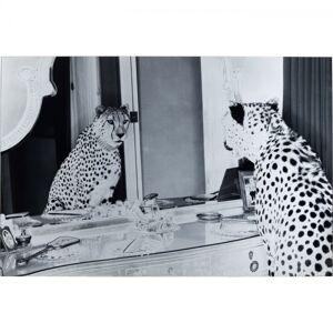 Skleněný obraz Metallic Gepard 100x150cm