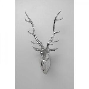 Dekorace na zeď Deer - stříbrná