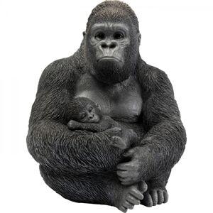 Soška Gorila s mládětem 40cm