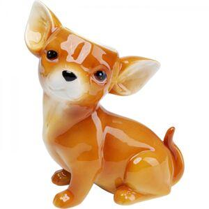 Hnědá keramická váza Dog 23cm