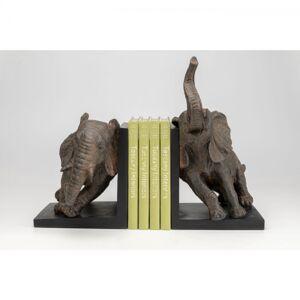 Zarážka na knihy Elephants 25cm - set 2 ks