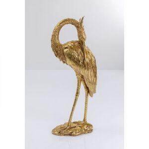 Socha Jeřáb Zlatá 101cm