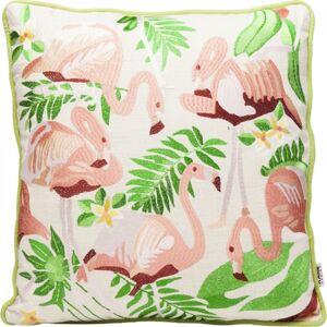 Dekorativní polštář Exotic Flamingo 45×45 cm