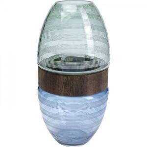 Barevná skleněná váza Funky 41cm