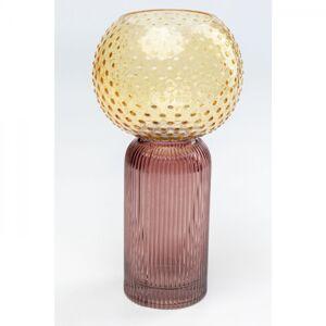Žluto-fialová skleněná váza Marvelous Duo  31cm