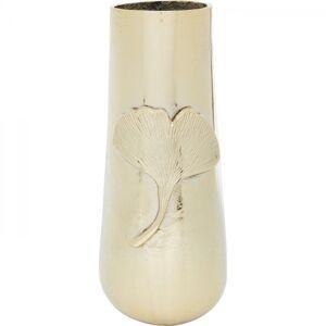 Zlatá hliníková váza Gingko Leaf 42cm