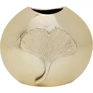 Zlatá hliníková váza Gingko Leaf 25cm