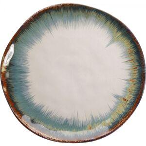 Talíř Organic Bílo-modrý O26cm