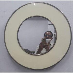 Zrcadlo Lens - bílé, 60cm