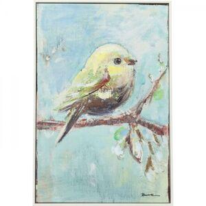 Obraz s ručními tahy Bird Blue Back 62×42 cm