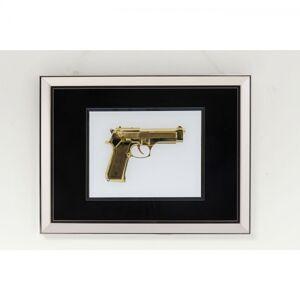Obraz v rámu Mirror Gun Gold 80×60 cm