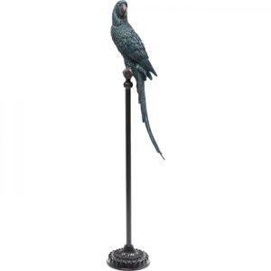 Socha Papoušek na bidýlku Tyrkysový 116cm
