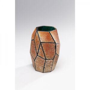 Oranžová skleněná váza Stone Gold 22cm