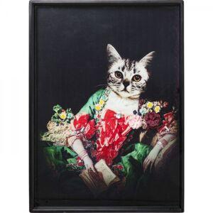 Obraz Frame Lady Cat 80×60 cm