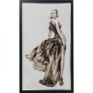 Skleněný obraz Marilyn Monroe v šatech