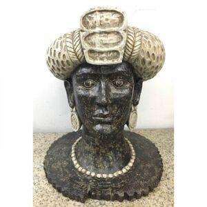 Soška Busta Žena Africká královna 50cm