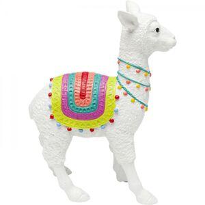 Soška Lama Alpaca s barevnou dečkou 39cm