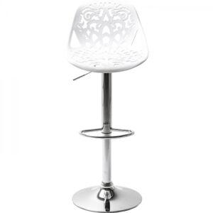 Bílá barová židle Ornament
