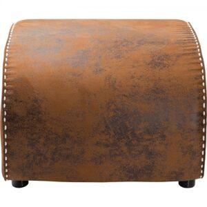 Hnědá kožená podnožka Ritmo Vintage Eco