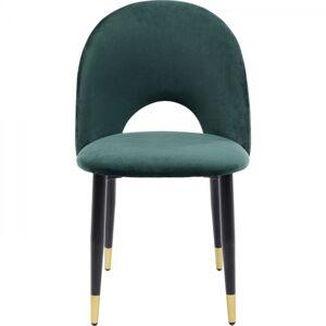 Zelená jídelní čalouněná židle Iris Velvet
