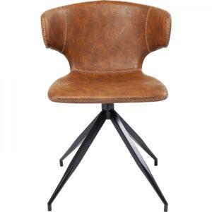 Hnědá otočná židle Rusty