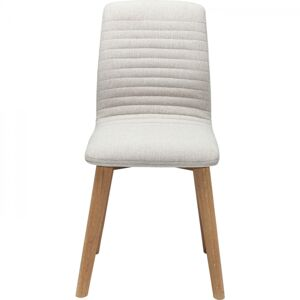 Bílá čalouněná jídelní židle Lara Ecru