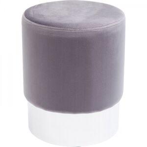 Šedá stolička Cherry Light - sokl stříbrný