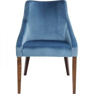 Modrá  čalouněná jídelní židle Mode Velvet