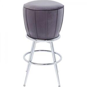 Šedá čalouněná barová stolička After Work