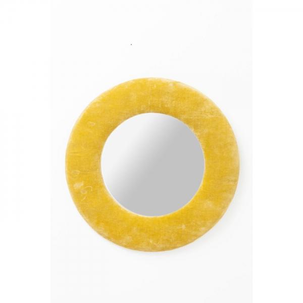 Zrcadlo Cherry O 50 cm - žluté