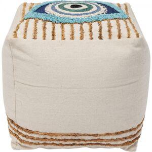 Béžový taburet Ethno Eye