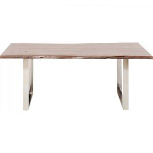 Stůl Harmony Walnut 200×100 cm - chrom
