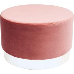 Růžový taburet Cherry - sokl stříbrný